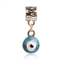 S'adapte à Pandora 925 Bracelet en argent sterling Blue Lucky Turkey Eye Dangle Beads Charms pour European Snake Charm Chain Fashion DIY Jewelry Femmes