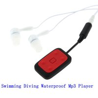 Wholesale Usb Sound Card Cable - Wholesale- Digital 8GB Clip-on Waterproof IPX8 Mp3 Player FM Radio Swimming Diving Sports Stereo Sound with Earphone USB Charging Cable