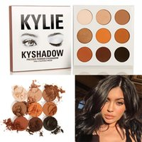 Wholesale New Arrived Makeup Sets - New arrived Kylie Eyeshadow Cosmetics Kylie Jenner Kyshadow pressed powder eye shadow Kit Bronze Palette Makeup 9 Colors DHL free shipping
