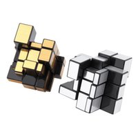 Wholesale Hot x3x3 Mirror Blocks Silver Shiny Magic Cube Puzzle Brain Teaser IQ Kid Funny Worldwide Great gift New Sale