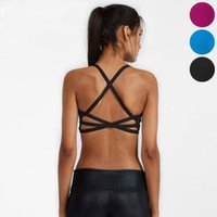 Wholesale Girls Active Wear - Solid Yoga Tops Women Sports Quick Dry Sexy Bandage Backless Bra Girls Running Outdoors Exercise Active Wear Outfits Tanks Tops