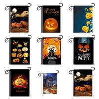 Wholesale Owl Supplies - New Halloween fashion Garden Flags Pumpkin Owl Flags unique Hanging outdoor Flags Party Decorations supplies IA668
