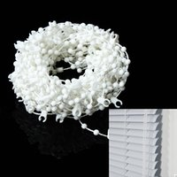 Wholesale m Durable Plastic White Roller Shade Vertical Blinds Beads Beaded Chain quot mm for Home Office Kitchen Decoration