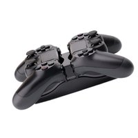 Doppio supporto USB per caricabatterie per il controller PS4 Wireless Dualshock 4 Gamepad UFO Indicatore luminoso a LED blu