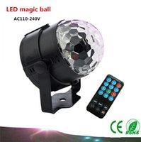 Wholesale Magic Lighting Remote Control - 2017 MiNi LED Remote Control Small Magic Ball AC110-240V 3W Voice Control Rotating Colorful KTV Flash Stage Light