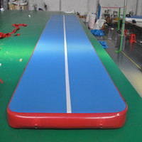 Wholesale Mat Tracks - inflatable air track inflatable gym mat many size physical exercise Air Tumble Track Gymnastics training use for Olympic Games