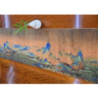 Wholesale Home Table Runners Wholesale - Modern Chinese Style Decorative Fabric Table Runner Home Furnishing Bed Flag Tablecloth landscape painting style