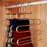 Wholesale HOT Hanger Pants Clip Multi layer Hanger Wardrobe Multifunctional Storage Plus Size Fashion Pants Hanger TOP1693