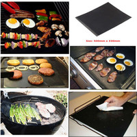 Wholesale Easy Bake Oven Black - Barbecue Grilling Liner BBQ Grill Mat Portable Non-stick and Reusable Make Grilling Easy 33*40CM 0.2MM Black Oven Hotplate Mats DHL
