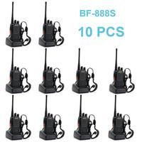 radios de dos vías cb al por mayor-10 PCS Baofeng BF-888S Walkie Talkie 5W Radio bidireccional de mano bf 888s UHF 400-470MHz Frecuencia portátil CB Radio Communicator