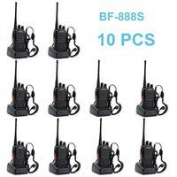 cb walkie al por mayor-888S bf 10 PCS Baofeng BF-888S walkie talkie 5W portátil de dos vías de radio UHF 400-470MHz Frecuencia portátil CB Radio Comunicador