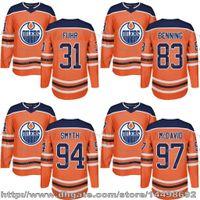 Wholesale Ryan Smyth Jersey - Customized Mens Womens Kids 2017-2018 New Logo Edmonton Oilers 31 Grant Fuhr 83 Matt Benning 94 Ryan Smyth 97 Connor Mcdavid Hockey Jerseys