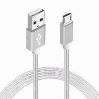 Wholesale Smart Power Cable - Smart 1.5M Nylon Braided Round USB Cable Strong Fabric Micro USB Data Sync Power Charging Cable for Android Smart Phone Tablet