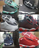 Wholesale Usa Patents - Wholesale Air Retro 13 Horizon Grey Green Black Oreo Red Man Athletics Mens Basketball Shoes AA High Quality Size USA 7 11 Sneakers