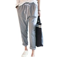 Wholesale Harem Pants Size S - 2017 Summer New Fashion Casual Pants Female Elastic Waisted Trousers Stripe Harem Pants Women Plus Size Capris Hot Sale Pantalon