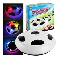 Plastique de football Prix-Le plus récent en plastique Creative LED Air Power Soccer Ball Sport Multi-surface Hovering Indoor Gliding light-up Suspension Football Toy pour enfants DHL