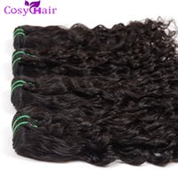 Wholesale Peruvian Big Waves Extensions - Water Wave Hair Extension 100% Virgin Brazilian Hair Weave Weft Big Curly Unprocessed Remy Human Hair Bundles 6pcs lot Natural Color Dyeable