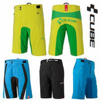 vélos de cyclisme cube achat en gros de-Cube Teamline Vélo Vélo De Montagne Shorts VTT BMX Downhill MX Motocross Short Vélo Bermudes Livraison gratuite