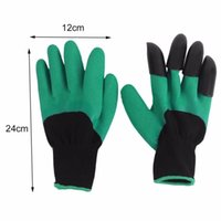 Wholesale Free DHL Pair Rubber Polyester Builders Garden glove Work Latex Gloves ABS Plastic Claws High Quality