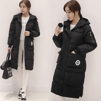 Wholesale Warm Grey Hooded Jacket - 2017 New Arrival Winter Women Down Parka Compact Long Length Thickened Zip-off Hooded Slim Coat Black Quilted Puffer Jacket Black Olive Warm