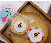 Wholesale Decorative Bottles For Gifts - Free shipping present for you honey bee decoration candy bag pudding bottle decorative sticker stickers gifts package decoration