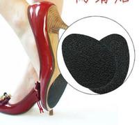 adhesivos para suelas de zapatos al por mayor-Zapatos autoadhesivos antideslizantes Estera de tacón alto Protector de suela de goma Almohadillas Plantilla antideslizante Antepié Tacones altos Pegatina