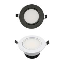 Wholesale Led Downlight Decoration - LED COB Downlight AC85-265V 9W Recessed LED Spot Light Lumination Indoor Decoration Ceiling Lamp Black Silver