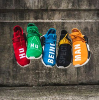 "Wholesale Human Body Prints - Wailly Hu NMD Runner Shoes,Human Race Pharrell's NMD have ""HUMAN"" and ""RACE"" printed on entire upper Size 13,11 Sneakers Double Box"