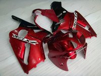 Wholesale Zx12r Red Body Kit - Full Body Kits Zx 12r 2005 ABS Fairing Zx12r 2002 Red Plastic Fairings Zx-12r 05 06 2002 - 2006