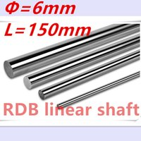 Wholesale Cnc Guide Rails - Wholesale- 2 pcs 3D printer rod shaft WCS 6mm linear shaft 150mm chromed linear motion guide rail round rod Shaft for cnc robot 6mm 150mm