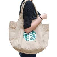 японские бренды сумки оптовых-2017 горячие Starbucks женщины сумочка Япония модный бренд холст сумка высокого качества сумка 4 цвета