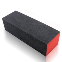 Wholesale Acrylic Red Nail Tips - Wholesale- New Nail Art Polish Sanding Buffer Orange Black Red Nail Art Tips Acrylic Buffer Block Files DIY Manicure Sanding Tool 2017 Hot