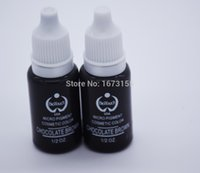 Wholesale Brown Tattoo Ink Kit - Wholesale- 2 Bottle Chocolate brown Permanent Makeup Cosmetic Tattoo Ink Micro Pigment Color 1 2 oz Permanent Makeup Ink Kits