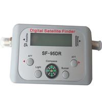 Wholesale Digital Dish Meter - Original Satellite Signal Finder SF-95DR Satfinder Find Meter LCD DIRECTV Dish FTA Digital For TV Signal Finder free shipping