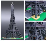 Wholesale Eiffel Tower Toy - Architecture Series 1M high Lepin 17002 The Eiffel Tower Model Building Kits Brick Toys Children Gift 3478pcs