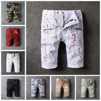 Wholesale Hot Jeans Men S Shorts - New Summer Casual Cotton Men Robin Short Jeans Fashion Brand Mens Bermuda Masculina Boardshorts shorts for men Hot Plus Size