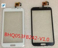 Wholesale External Touch Android Display - Wholesale- External Touch Screen Display Capacitive Glass Panel BHQ053FB242-V1.0 for 5.3 inch Chinese MTK android phone N7100 N7102