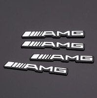 Wholesale 200pcs D metal amg Aluminum Car steering wheel emblem sticker audio Speaker car stickers car styling badge logo cardoor decoration