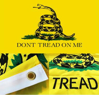Wholesale Gadsden Dont Tread On Me Flag x5 Ft with Brass Grommets UV Protected Best by American Tea Party Flag