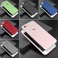 Wholesale Semi Slim - Roybens Fashion Luxury Pure Color Slim Mat PC Case For iPhone 7   iPhone 7 Plus Semi-Transparent Super Thin Plastic Cover Funda