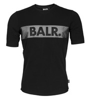 Wholesale Men T shirt Tee Shirt Homme Cotton BALR Tops Letter Printing Brand Clothing Round Bottom Fitness Tshirt Euro Size T shirt