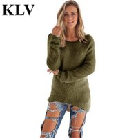 Wholesale Wholesale Apparel For Women - Wholesale- Autumn Winter Casual Long Sleeve Cotton Round Neck Sweater For Women Apparel Fashion Hedging Loose Women's Pullover Chompa No4