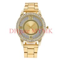 Wholesale Rose Gold Diamond Watch Women - New York Fashion watches Brand new quartz Diamond crystal wristwatches top luxury Famous retail replicas for men women Silver Gold Rose KM01