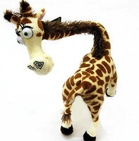 Wholesale Stuffed Giraffe Plush Toy - Wholesale cheap HOT Madagascar Melman Doll Lovely Long Neck Giraffe Stuffed Plush Toy Kids 14''