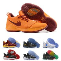 Wholesale I Shoes Boots - 2017 Wholesale New Paul George PG1 I Basketbal Shoes 8066PG1 Men's Trainer Sneaker Boots Authentic Discount Outdoor Sports Shoes US 8-12