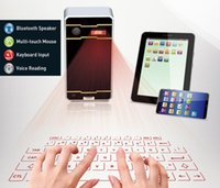 Wholesale laptop projection online - 5PCS Mini Wireless Laser Projection Keyboard Portable Virtual Bluetooth Laser Keyboard with Mouse Function for Android iPhone Tablet Laptop