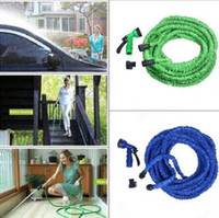 Wholesale Hose 75ft Green - 50FT 75FT 100FT Expandable Flexible Garden Water Hose Garden Hose For Car Water Pipe Plastic Hoses To Watering With Spray CCA6362 50pcs