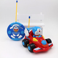 Vente en gros- Nouvelle Cartoon Doraemon Doll Mini Rc Car Boys Toys Voitures Télécommande Speedy Musical Light Up Jouet de voiture pour enfants pour cadeaux