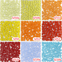 Wholesale Stone Glass Mosaic - 200g Crystal Glass Free Stone yellow Mosaic tile_ backsplash kitchen wall tile sticker bathroom floor feet massage tile
