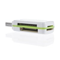 Wholesale Green Card Dv - In stock! 1pcs USB 2.0 4 in 1 Memory Multi Card Reader for M2 SD SDHC DV Micro SD TF Card green Free   Drop Shipping